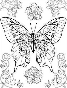 ausmalbild ganz viele schmetterlinge | butterfly coloring | kostenlose erwachsenen malvorlagen