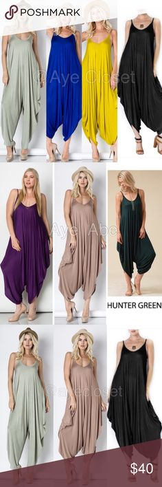 New Harem jumpsuit oversized dress Sexy boho trend ❌Price is firm❌ New Harem jumpsuit jumper romper oversized dress.  Flowy and very comfy. Lightweight and stretchy fabric.   ⭐️SMALL, MEDIUM AND LARGE Boutique Pants Jumpsuits & Rompers