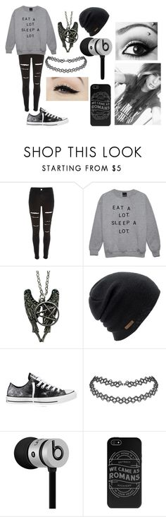 """Eat A Lot, Sleep A Lot."" by abipatterson on Polyvore featuring River Island, Coal, Converse, Anatomy Of and Beats by Dr. Dre"