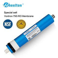 Nova Vontron 75 gpd RO Membrana para 5 fase filtro purificador de água da osmose reversa do sistema de tratamento certificado NSF/ANSI freeship