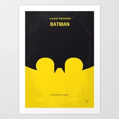 My Batman minimal movie poster Art Print by Chungkong - $18.00