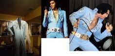 """The """"Aztec Star"""" made it's debut during Elvis' 1972 November tour. There was an original belt made for this suit, but so far no pictures of Elvis wearing the suit with it has surfaced. Elvis used his gold belt and his white star belt ( 1971 ). The suit is at Graceland today."""