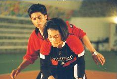 Rahul & Anjali in Kuch Kuch Hota Hai Shahrukh Khan And Kajol, Shah Rukh Khan Movies, Kuch Kuch Hota Hai, King Of My Heart, King Of Hearts, Cool Mustaches, Srk Movies, Rahul Khanna, I Dont Like You
