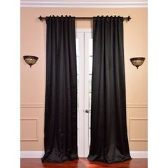 Perfect for blocking out light during the day or night, this blackout curtain panel pair effectively blocks outside light and also gives you superior insulation. These curtains feature thick pleated curtain panels with heavy backing and back tabs. 108 Inch Curtains, Short Curtains, Pleated Curtains, Cool Curtains, Black Curtains, Panel Curtains, Curtain Panels, Insulated Curtains, Thermal Curtains