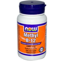 Now Foods, Methyl B-12, 1000 mcg, 100 Tasty little sublingual tablets - cheap as chips but so much better for my brain :) gift code - VAZ829