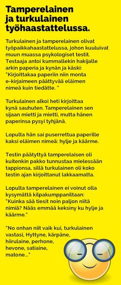 Vitsit: Tamperelainen ja turkulainen työhaastattelussa - Kohokohta.com Kissa, Haha, Funny Stuff, Bullet Journal, Comics, Memes, Funny Things, Ha Ha, Comic Book