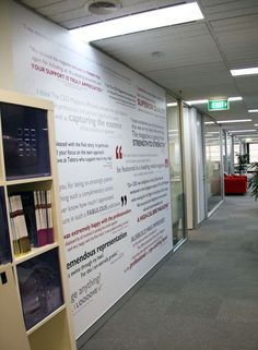 Testimonial interior wall graphic for Sydney city office