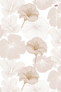 This product is also part of a Bundle, see here Introducing the Elegant Flower Patterns a set of Seamless Vector Patterns and Vector Floral Compositions created Flower Backgrounds, Wallpaper Backgrounds, Digital Backgrounds, Hand Drawn Flowers, Cute Patterns Wallpaper, Design Blog, Design Ideas, Elegant Flowers, Pattern Illustration