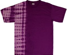 An awesome purple tie dye t shirt dyed in an x-ray design on one side. This item is available in all adult sizes. My T Shirt, Shirt Dress, Batik Fashion, Tie Dye Shirts, Tie Dye Patterns, Tye Dye, Branded T Shirts, Fashion Brands, Shirt Designs