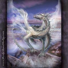Dragon of Water / Fantasy Art Print / Fantasy Painting / Dragon Print / Mythology / Wiccan Art / Dragon Scale / Dragon Painting / Witchy Art Fantasy Paintings, Fantasy Artwork, Art Paintings, Fantasy Creatures, Mythical Creatures, Dragons, Wiccan Art, Mystic Moon, Water Dragon