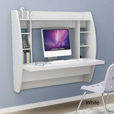 Broadway Black Floating Desk with Storage   Overstock.com Shopping - The Best Deals on Desks