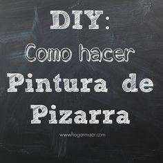 Como hacer la pintura de pizarra #DIY #pinturadepizarra #hazlotumisma