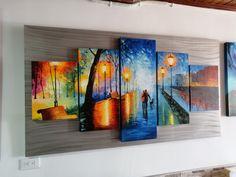 Cuadros modernos pintados a mano Paintings, Night, Artwork, Modern Paintings, Artworks, Scenery, Idea Paint, Art Production, Work Of Art