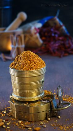 Sambhar Spice Blend - 1 tbsp cumin/jeera 1/2 tsp peppercorn/kala mirch 5-6 red chilli (whole)/ laal mirch 4 tbsp coriander seed/dhaniya beej 1 tbsp gram lentil/chana daal 1/4 tbsp cinnamon stick (broken)/dalchini 1/2 tsp fenugreek seed/methi beej ( optional) 1/4 tsp asafetida  1 tsp oil