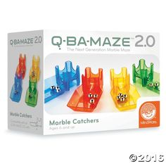 Integrate these four Marble Catchers into any Q-BA-MAZE 2.0 construction for rapid reloading and quick cleanup. Set of four includes one red, one blue, one ...