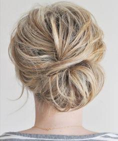 Wedding hair @Jill Cohagan Bortzfield Anne so cute- especially with your little clip!