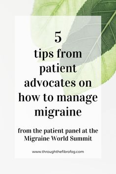 5 tips from patient advocates on how to manage migraine and health symptoms