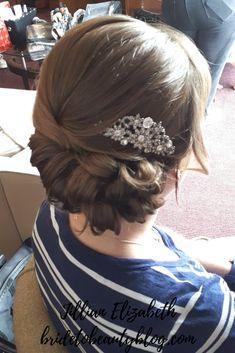 bridal hair, wedding hair, side updo, hair up Hair Wedding, Bridal Hair, Up Hairstyles, Wedding Hairstyles, Updos, Your Hair, Bride, Hair Styles, Beauty