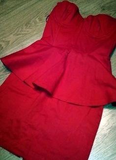 Kup mój przedmiot na #vintedpl http://www.vinted.pl/damska-odziez/krotkie-sukienki/13045865-piekna-elegancka-czerwona-sukienka-baskinka-34-36
