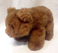 "Vintage Gund Brown Bear Plush 1987 Collectors Classic w/Tush Tag 13"" 14"" #Gund"