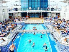 Yes this pool is just as great as it looks. Enjoying the Caribbean waves on #CelebrityEquinox!  #karibianristeily #celebritycruises #modernluxury #häämatka #honeymoon #caribbean #karibia #loma #travel #matka #reissu #nordicnomads #globecalledhome (via Instagram)