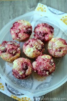 Raspberry Lemon Muffins from www.thisgalcooks.com #breakfast #muffins #fruit 2