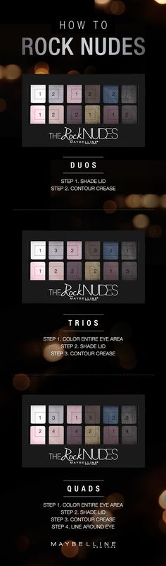 Create 13 different eye looks with the NEW Rock Nudes eyeshadow palette. Edited…