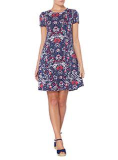 Womens Multicoloured Printed Swing Dress | Tu clothing