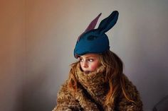 Bunny Headdress by Animalesque for Enfants Terribles Magazine