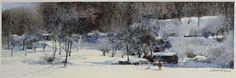 【冬雪/ Winter Snow 】Watercolor by Jasmine H. H. Huang 2015