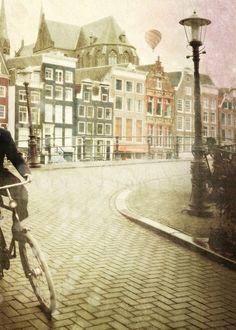 Lanscape photography, Bicycle art,  Cyber monday etsy , Bike photograph, Wall decor, Wall art, Art, 5x7 (13x18cm). €13.00, via Etsy.