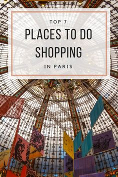 Top 7 places to do shopping in Paris