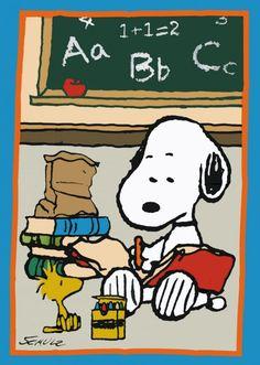 SNOOPY SCHOOL CLASSROOM Flag: Snoopn4pnuts.com
