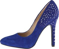 Naughty Monkey Caged Up Women US 8 Blue Platform Heel UK 6 EU 39 ** Detailed information can be found by clicking on the VISIT button