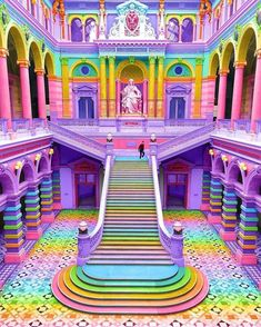 """veryprivateart: """" Photo based digital art by Ramzy Masri aka Space Ram Teen Girl at Heart, Rainbow Witch, Nickelodeon Design, NYC Queer """" Rainbow House, Rainbow Art, Rainbow Colors, Rainbow Stuff, Rainbow Things, Rainbow Drawing, Rainbow Candy, Rainbow Unicorn, Girl Bedroom Designs"""