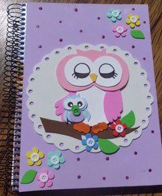 caderno com eva de corujinha