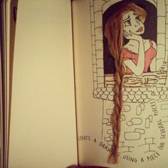 Wreck This Journal - create a drawing using a piece (or several pieces) of your hair