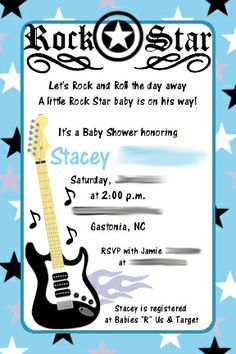 1000 images about rock star baby shower on pinterest star baby showers rock rock and baby. Black Bedroom Furniture Sets. Home Design Ideas