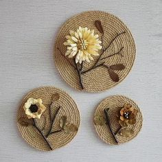 Best 24 of hemp rope diy hand made environmental protection waste utilization home decoration creative design decorative inspiration Twine Crafts, Cd Crafts, Shell Crafts, Diy Home Crafts, Diy Arts And Crafts, Recycled Crafts, Flower Crafts, Decor Crafts, Diy Crafts With Cds