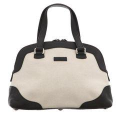 1ba0584109b2c  gucci Handbag Black White 272378 Gg Pattern Canvas Leather Women s