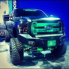 monster trucks in the guise of Ford F-350s
