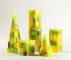 Lemonade chunk candles. Чънк свещи Лимонада с аромат на мед и лимон.