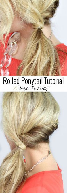 I'm such a sucker for a cute ponytail!!  Must learn this quick hairstyle asap   Twist Me Pretty