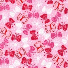 Tkanina Butterflies On The Terrace Pink Robert Kaufman