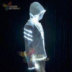 Trajes luminosos SW2812 / 2813 / 5050 LED Hoodies jaqueta ternos luminosos homens LED de incandescência do partido roupas acessórios de dança(China (Mainland))