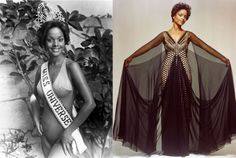 First Black Miss Universe Janelle Commissiong On July 16, 1977 she competed in the Miss Universe beauty pageant held in Santo Domingo, Dominican Republic and made history by becoming the first black winner of the contest.