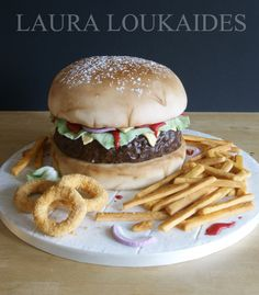 """The Big Burger Cake"" by Laura Loukaides                              …"