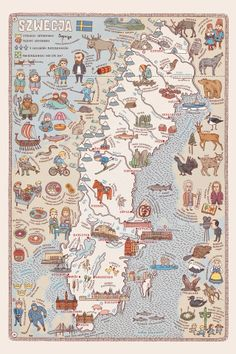 Maps is a new book written and illustrated by Aleksandra Mizielinska and Daniel Mizielinksi you've gotta see. This quirky edition of maps (from every region on earth) details the history and culture of […] Collage Vintage, Vintage Maps, Travel Maps, Travel Posters, Travel Trip, Pictorial Maps, Map Globe, Map Design, City Maps