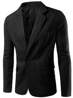 Zimaes-Men Solid Casual Fashion Two-Button 3 Piece Set Sport Coat Jacket