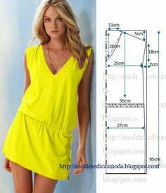 Simple DIY Summer Dress – Free Sewing Pattern - 10 Fashionable DIY Dress Sewing Patterns Perfect for Every Body Shape - Salvabrani Sewing Patterns Free, Clothing Patterns, Dress Patterns, Diy Clothing, Sewing Clothes, Dress Sewing, Diy Kleidung, Diy Vetement, Vestido Casual